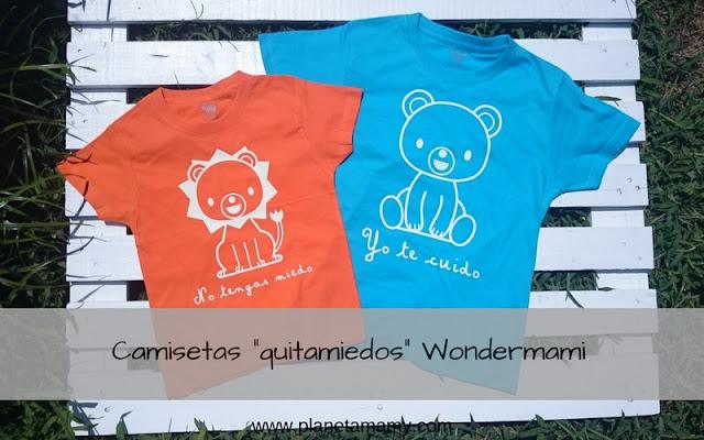 """Camisetas """"quitamiedos"""" Wondermami"""