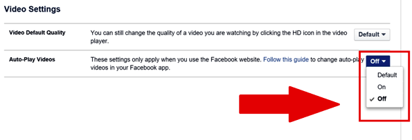 Cara Mendisable Autoplay Video Facebook