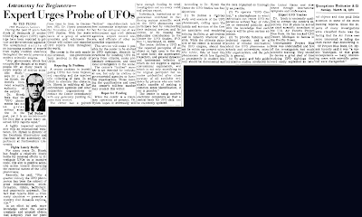 Expert Urges Probe of UFOs - YoungsTown Vindicator 3-10-1974