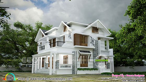 Design of mixed roof modern contemporary home