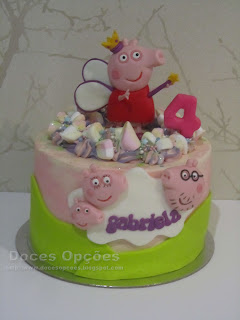 birthday peppa pig cake