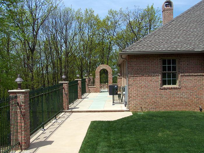 Brick Driveway Image Brick And Wrought Iron Fencing