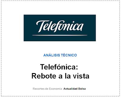 TELEFONICA, ANALISIS TECNICO J. Jimenez en finanzas.com. 9 Agosto 2019.