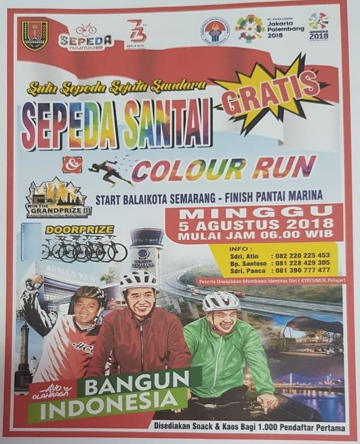 Sepeda Santai & Color Run • 2018