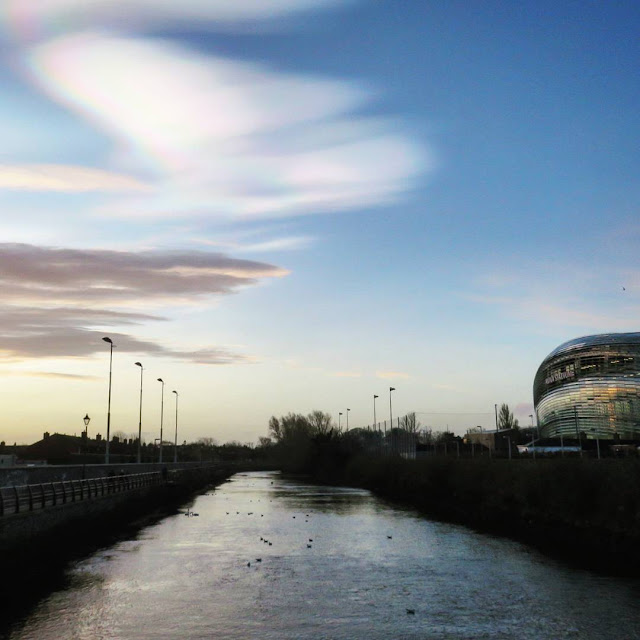 Rainbow Clouds over Dublin Ireland - River Dodder