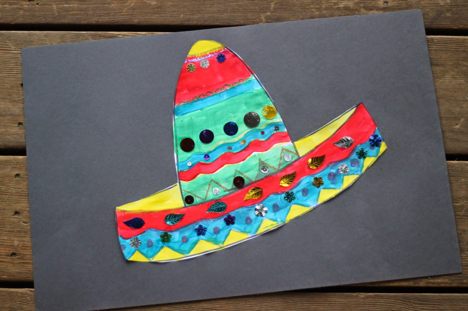 Green Owl Art Cinco De Mayo Crafts