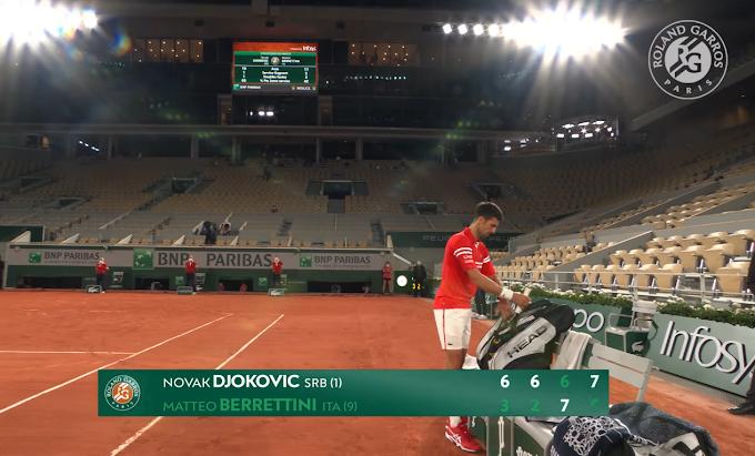 Roland Garros: Berrettini eliminato dal serbo Djokovic nei quarti di finale