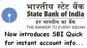 instant account services on mobile by sbi quick service