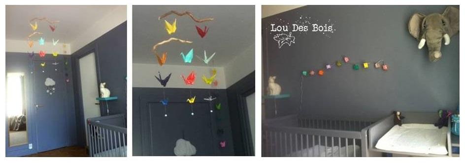 lou des bois origami une jolie chambre pour un b b bient t n. Black Bedroom Furniture Sets. Home Design Ideas