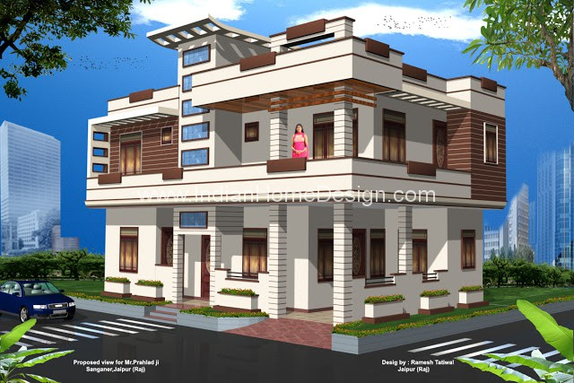 3d Views Of Rajasthan Style Home Exterior