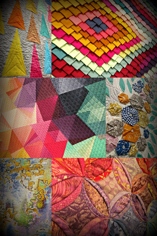 Quilts decorated the convention center at the Sewing and Quilt Expo.