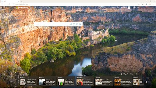 Fondo de pantalla del navegador Bing de Microsoft