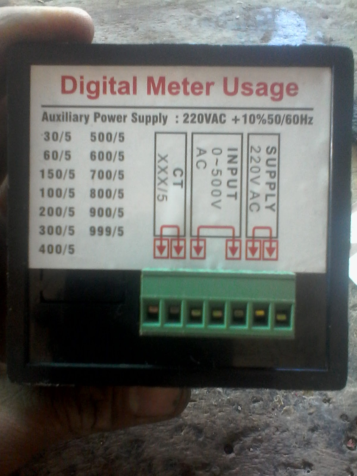 Digital Meter Wiring Diagram 2002 Dodge Neon Radio Multi Voltmeter Ammeter Hz With