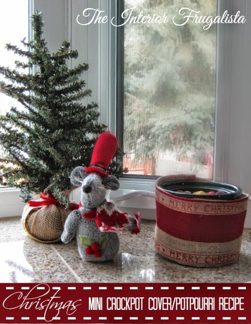Festive Mini Crockpot Cover