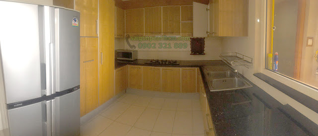 Khu bếp với đầy đủ tiện nghi.