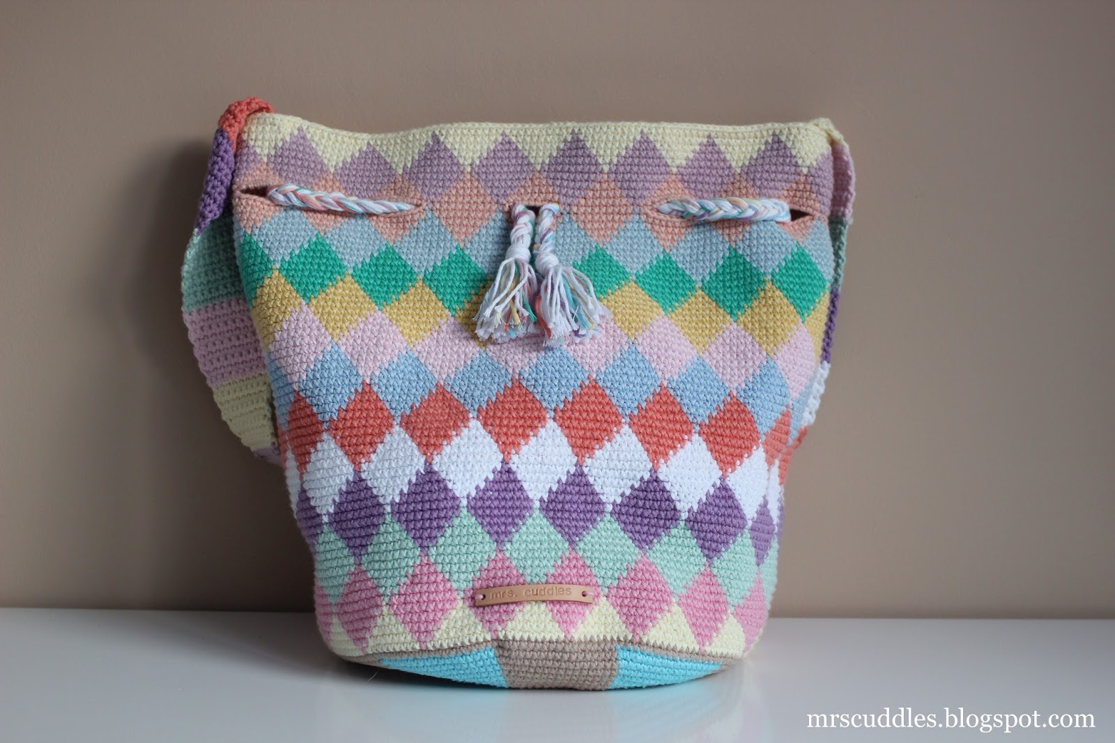Mrs Cuddles Diamond Tapestry Bag