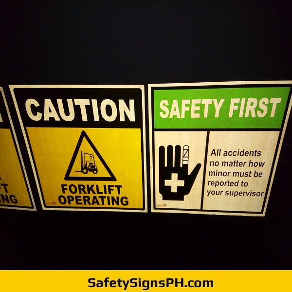 Caution Reflective Safety Signs