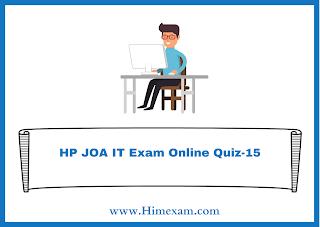 HP JOA IT Exam Online Quiz-15