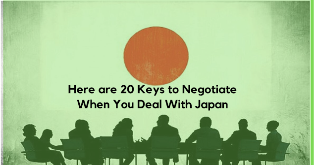 Business Deal With Japan? Here is 20 Keys to Negotiate