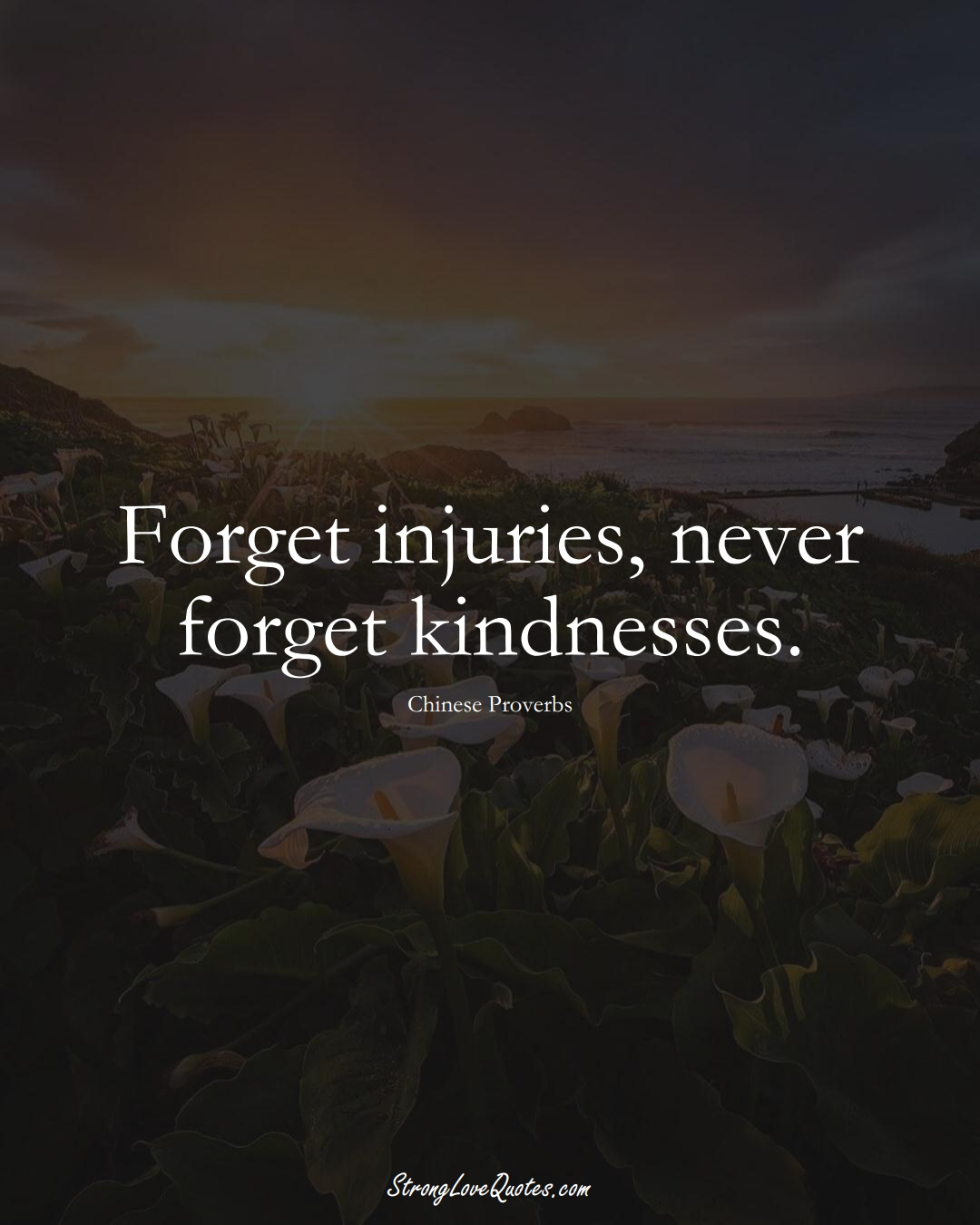 Forget injuries, never forget kindnesses. (Chinese Sayings);  #AsianSayings