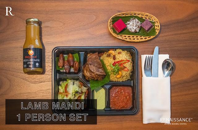 lamb mandi set bazar makan-makan stay home takeaway renaissance johor bahru hotel