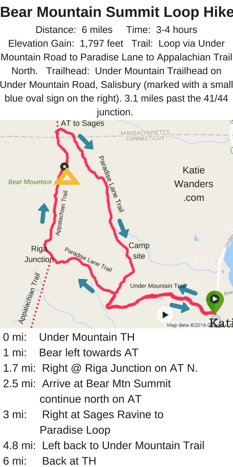 Katie Wanders : Bear Mountain, Salisbury - Hiking