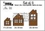 Set van 3 stansen voor 3 verschillende huisjes. Set of 3 dies for 3 different houses.