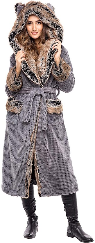 Full Length Long Faux Fur Coats Jackets for Women