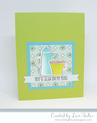 You've Bean on My Mind card-designed by Lori Tecler/Inking Aloud-stamps and dies from My Favorite Things