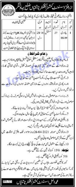 Revenue-Department-tehsil-Chishtian-Patwari-Jobs-2021-advertisement