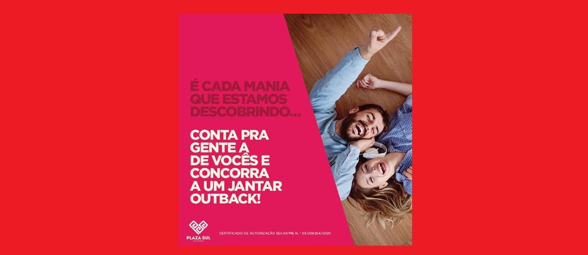 Promoção Dia dos Namorados Plaza Sul Shopping 2020 - Ganhe Jantar