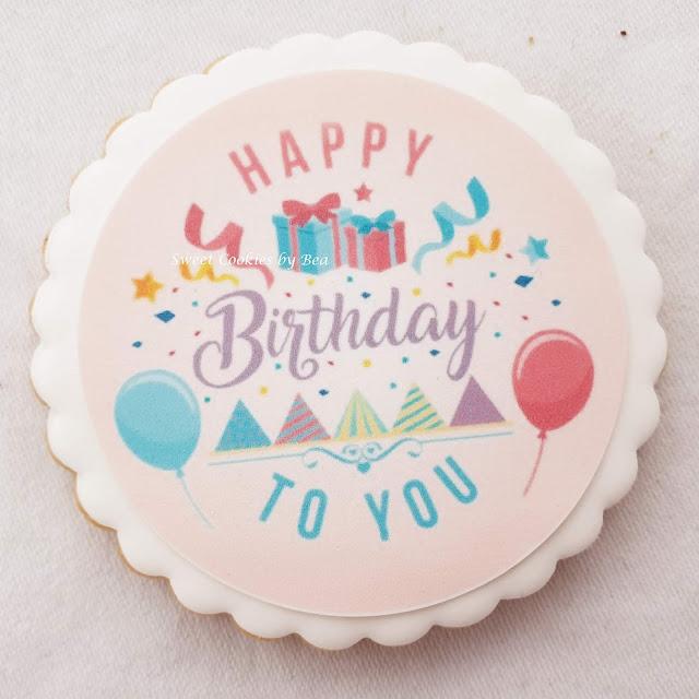 Galletas para un regalo de cumpleaños