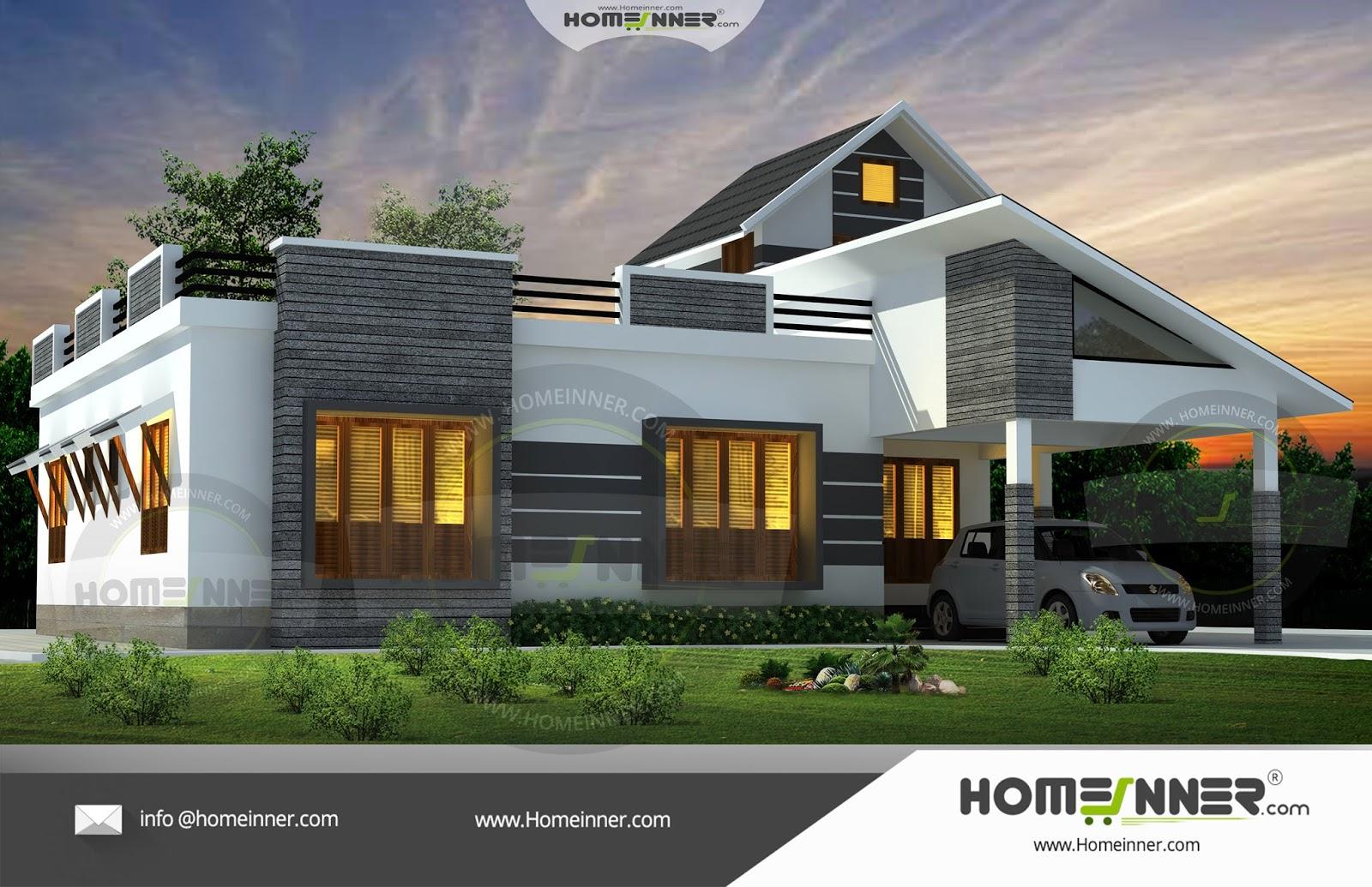 1676 sqft 3 Bhk Single Floor Low Cost Kerala Home Design