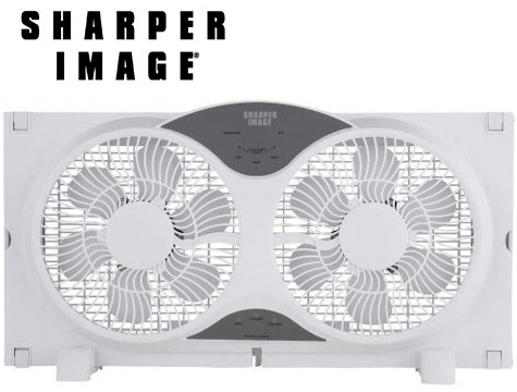 GearXS Has Got A Fantastic Deal On This Sharper Image 9 3 Function Dual Window Fan With Remote Priced At 6899 But Dropping To 4799 FREE Shipping