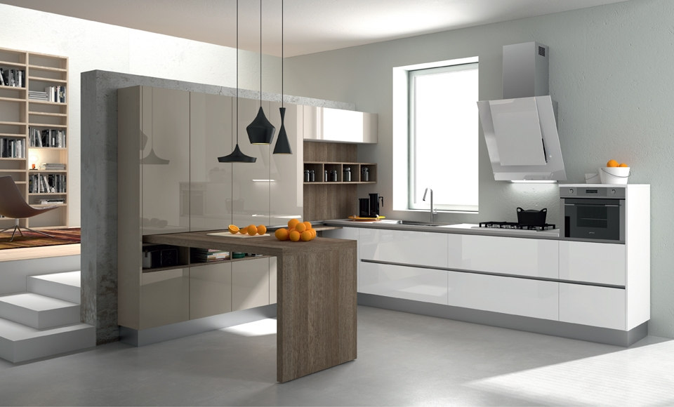 30 ideas de mesas y barras para comer en la cocina for Barras modernas para living