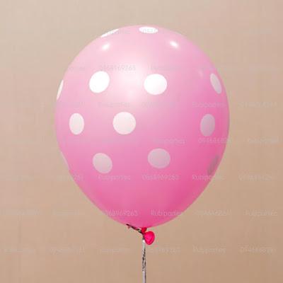 bóng chấm bi màu hồng