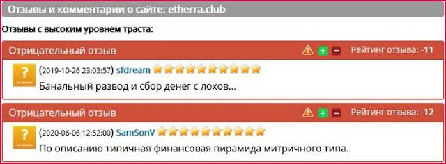 etherra.club отзывы о сайте