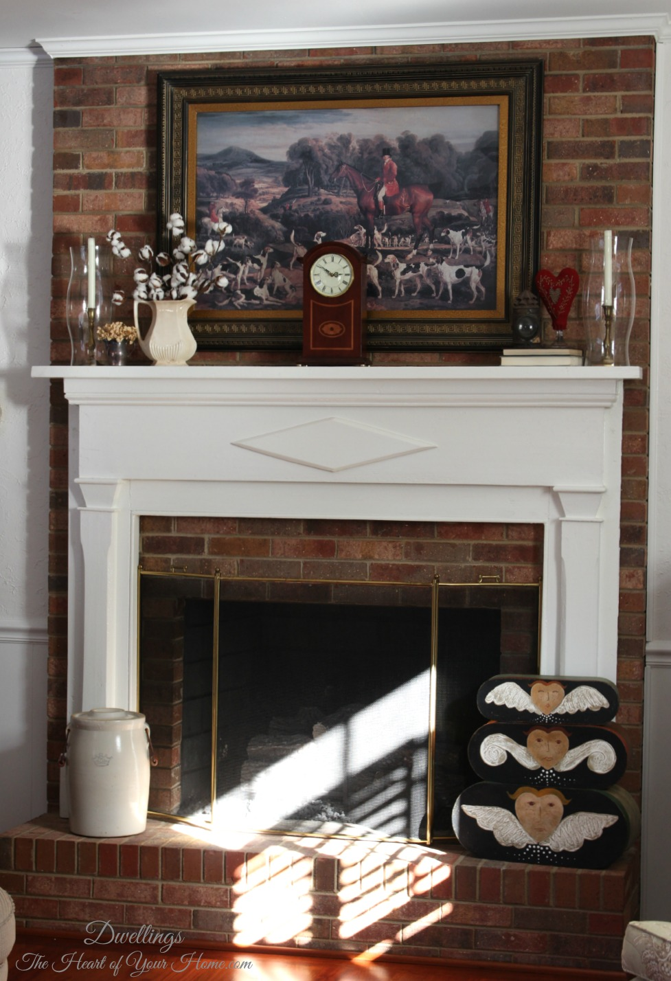 Decorating The Fireplace Mantel Amp Hearth Dwellings The