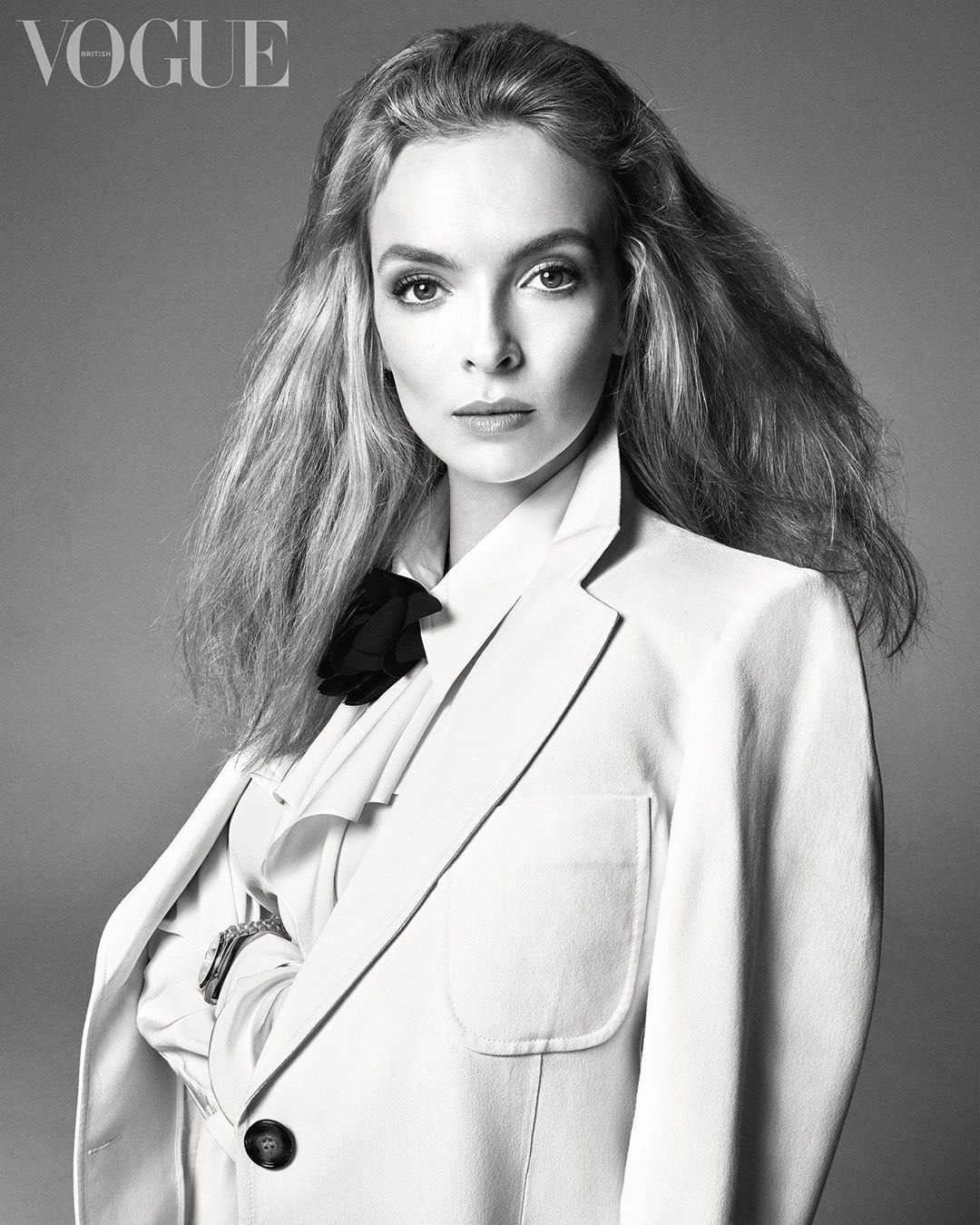Jodie Comer is featured on the cover of British Vogue April 2020, photographed by Steven Meisel