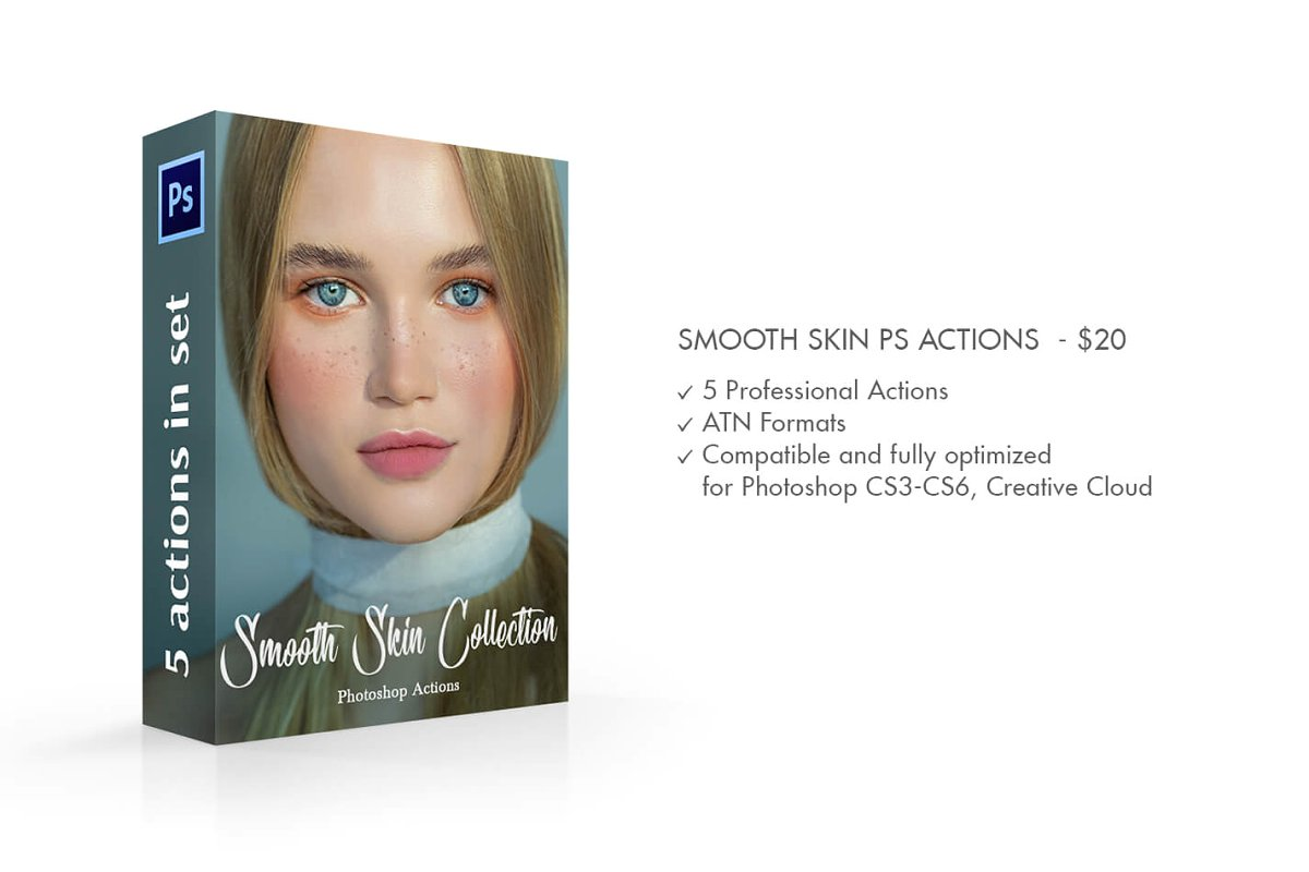 Photoshop Action Làm Mịn Da – Smooth Skin Photoshop Actions (ATN) - Ngcloudy.com