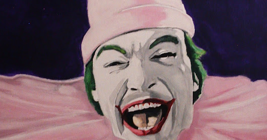 Cesar Romero Joker 1966 Batman iCONS DESIGNS Pop Art Acrylic Painting