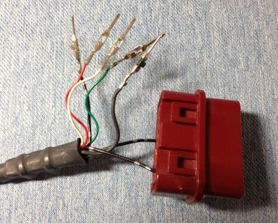OBD2コネクターのピン引き抜く
