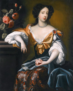 A 1680 portrait of Maria Beatrice by the  Dutch master Simon Pietersz Verelst