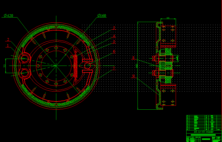 Cơ cấu phanh khí xe tải