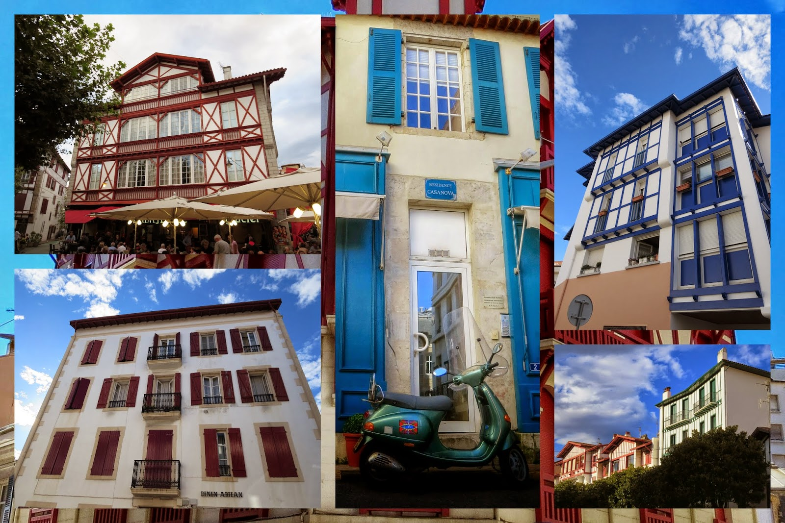 French Basque Country - Half-Timbred Buildings