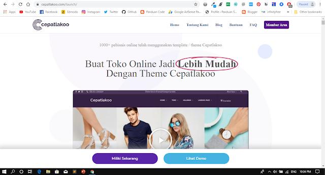 Template Wordpress Toko Online