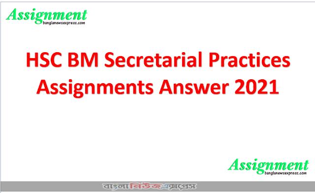 HSC BM Secretarial Practices Assignments Answer 2021