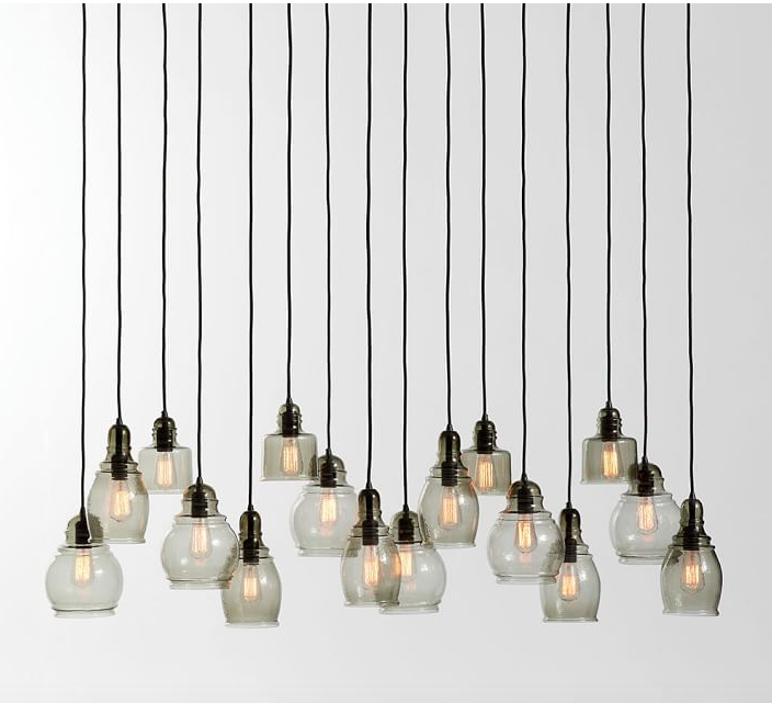 Pottery Barn Paxton 3 Light Pendant: Better Together: Earthy Modern