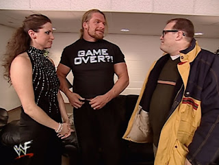 WWE / WWF Royal Rumble 2001 - Drew Carey meets Triple H and Stephanie McMahon