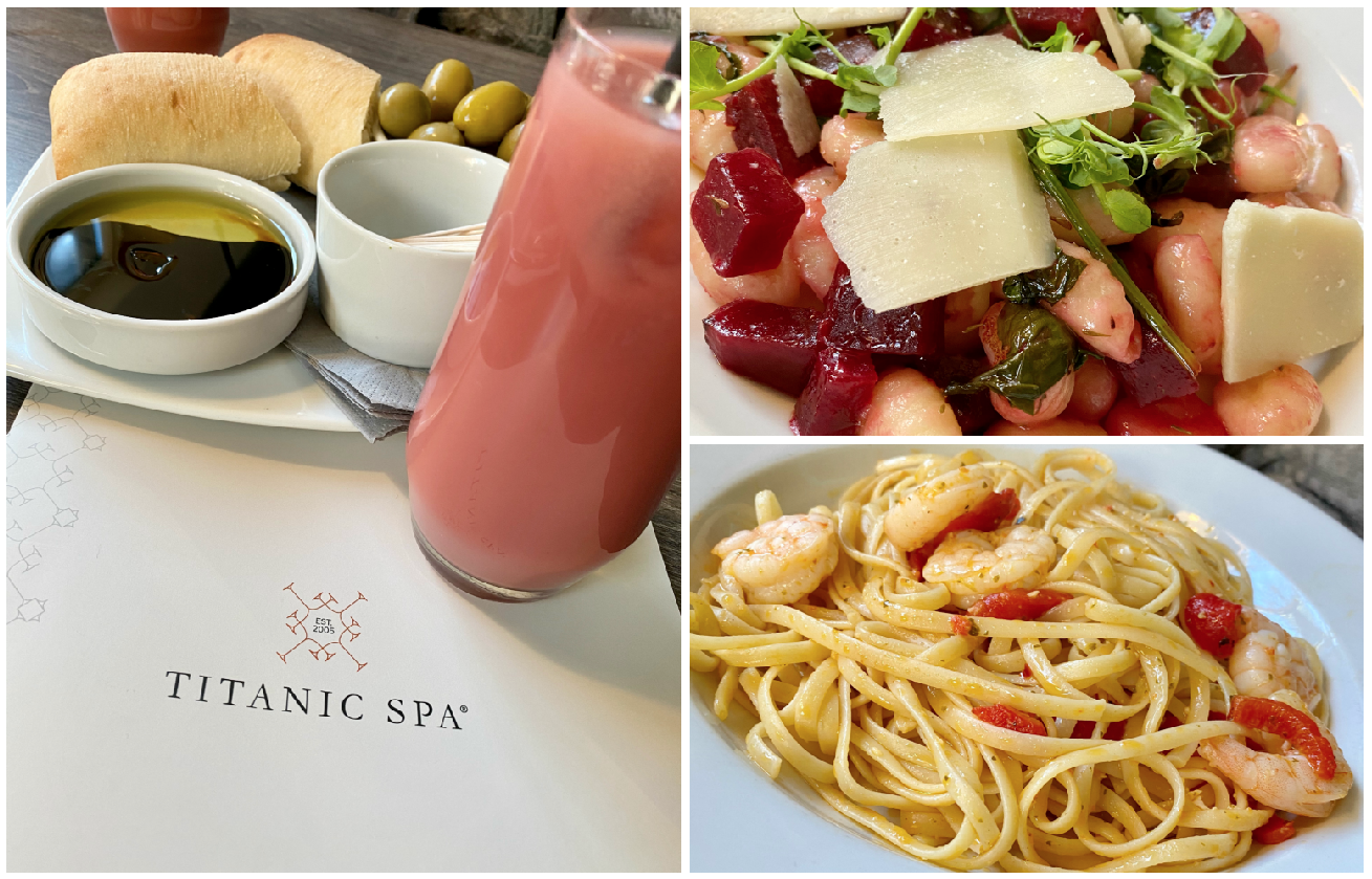 Titanic spa lunch choice